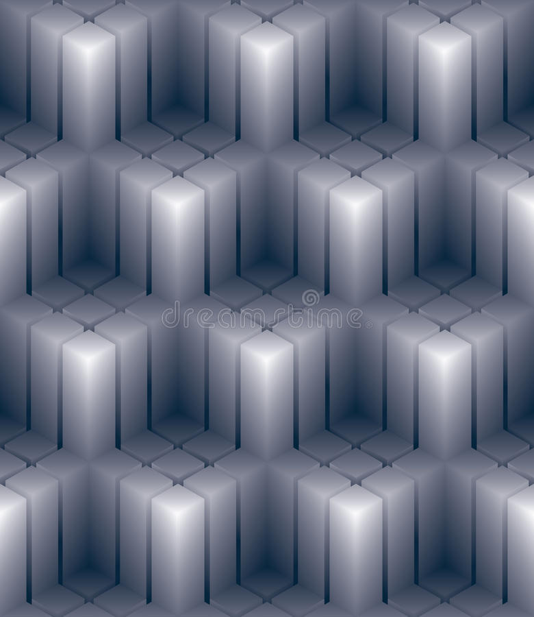 El papel pintado decorativo geométrico 3d, resume la palmadita inconsútil ajustada libre illustration