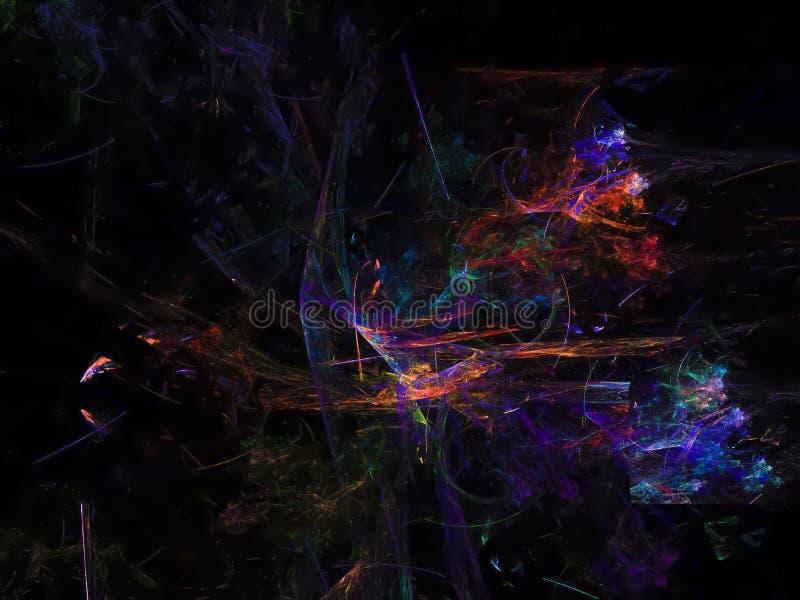 El papel pintado futuro colorido abstracto del fractal rinde la publicidad, imagenes de archivo
