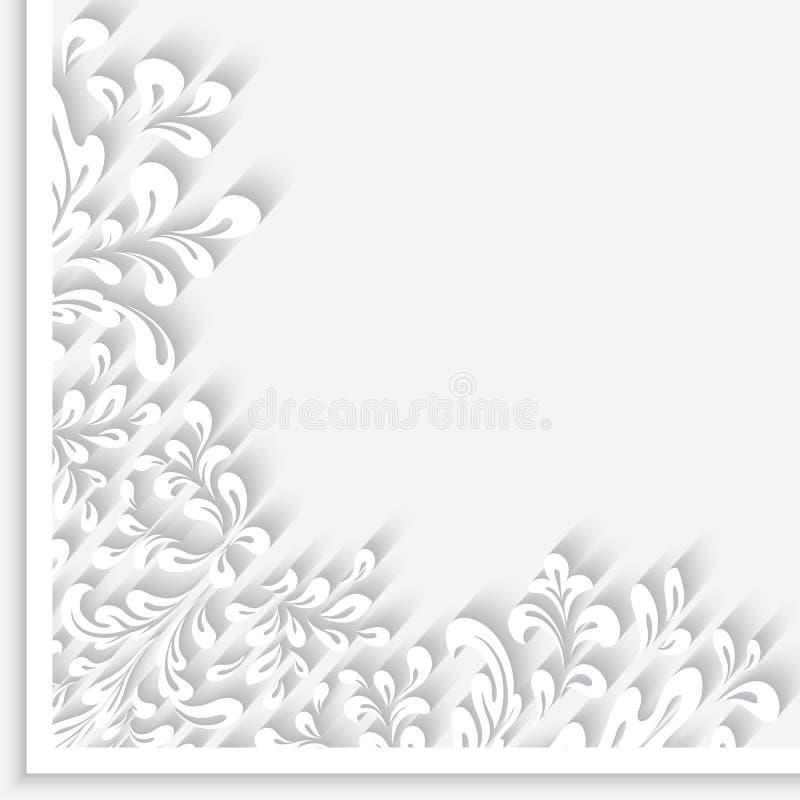 El papel remolina el ornamento de la esquina libre illustration