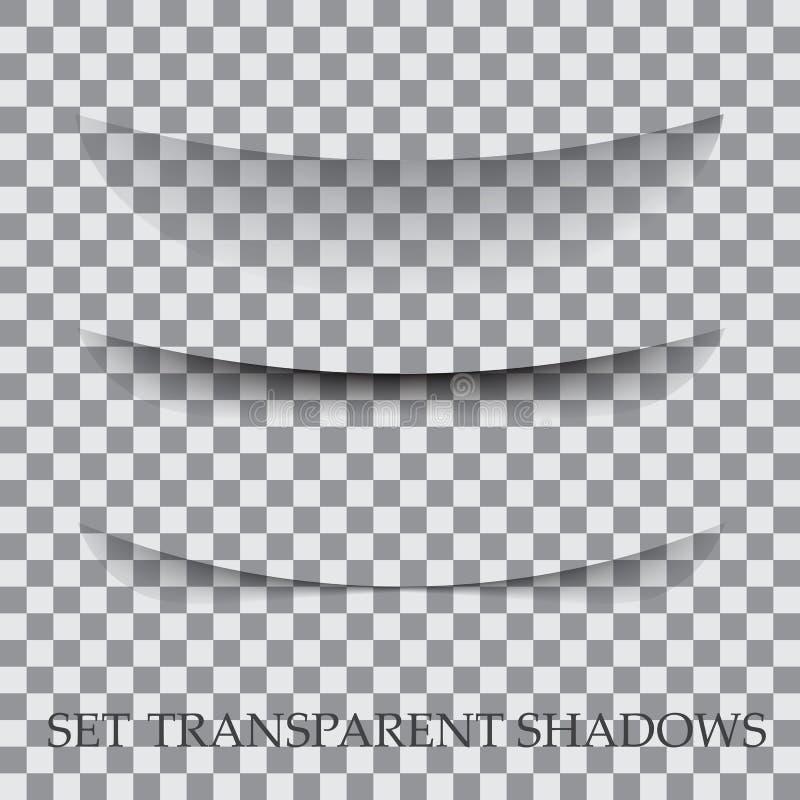 El papel transparente con efecto de sombra realista se selecciona libre illustration