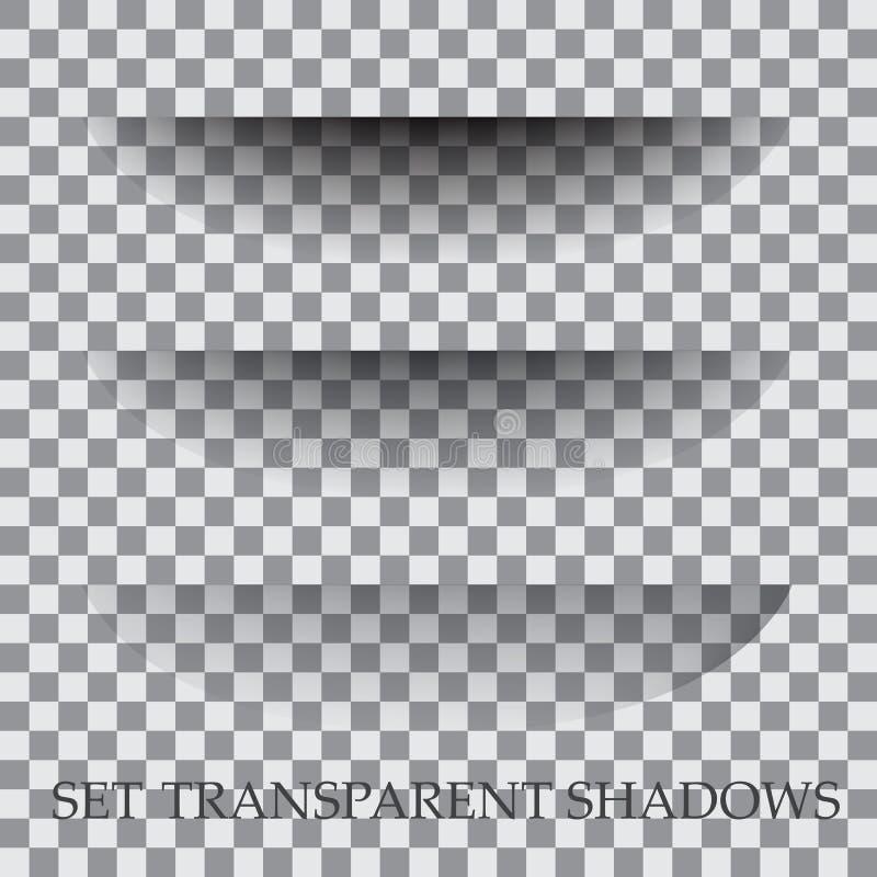 El papel transparente con efecto de sombra realista se selecciona ilustración del vector