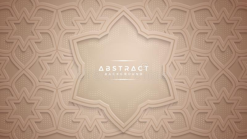 El papercut abstracto del oro texturizó el fondo ilustración del vector