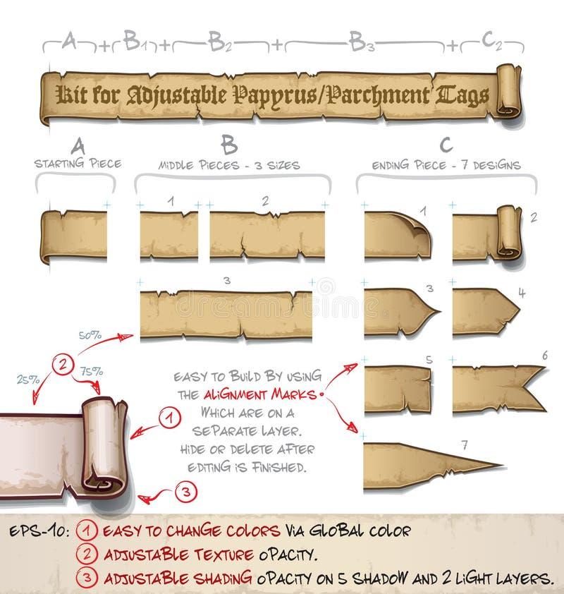 El Papiro Marca Horizontal Con Etiqueta - Hágalo Usted Mismo Equipo ...