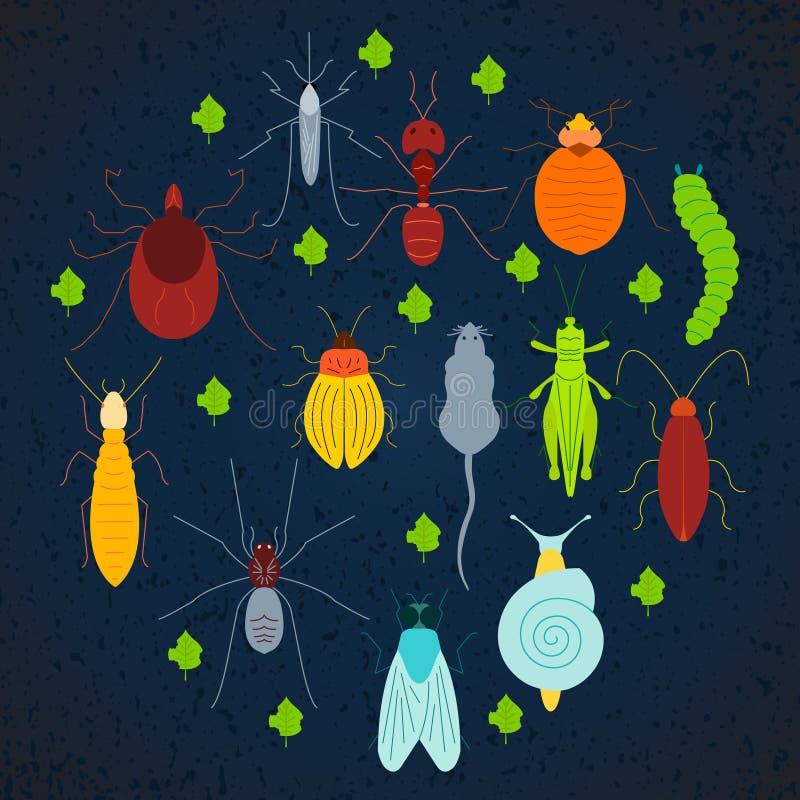 El parásito coloreó el sistema libre illustration