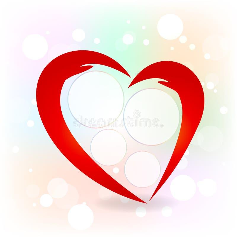 El par del logotipo da vector del icono de la forma del corazón del amor libre illustration
