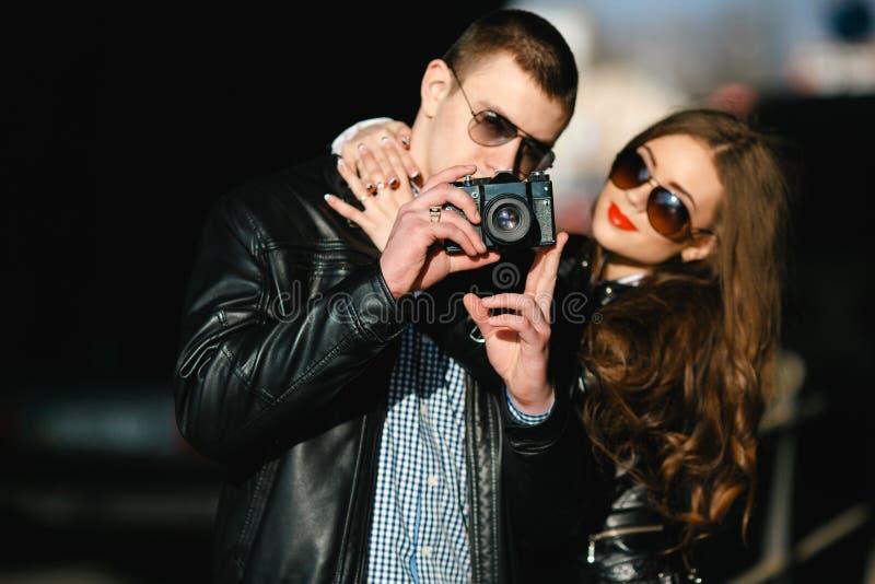 El par hace la foto fotografía de archivo