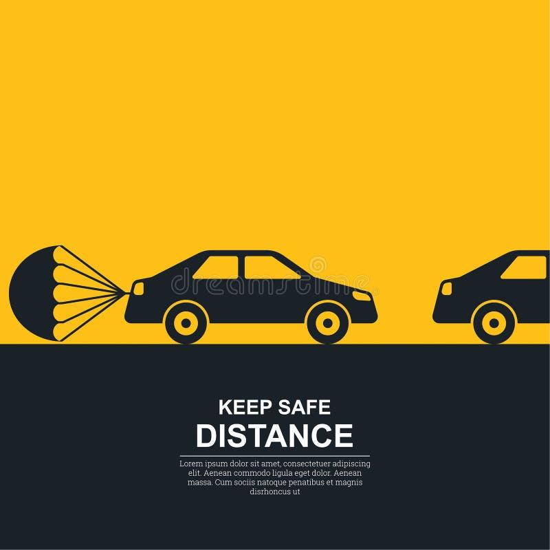 El paracaídas atado libre illustration