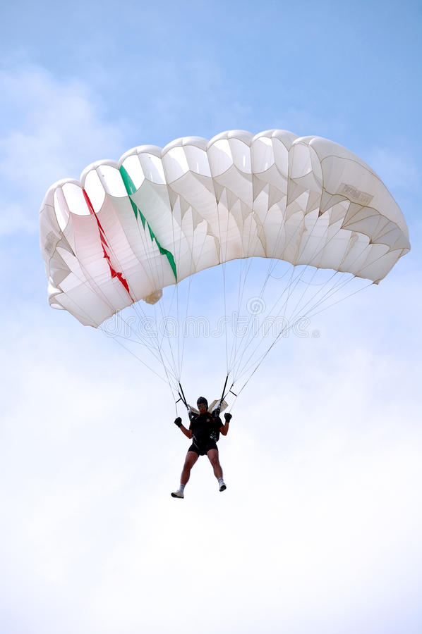El paracaidista imagen de archivo
