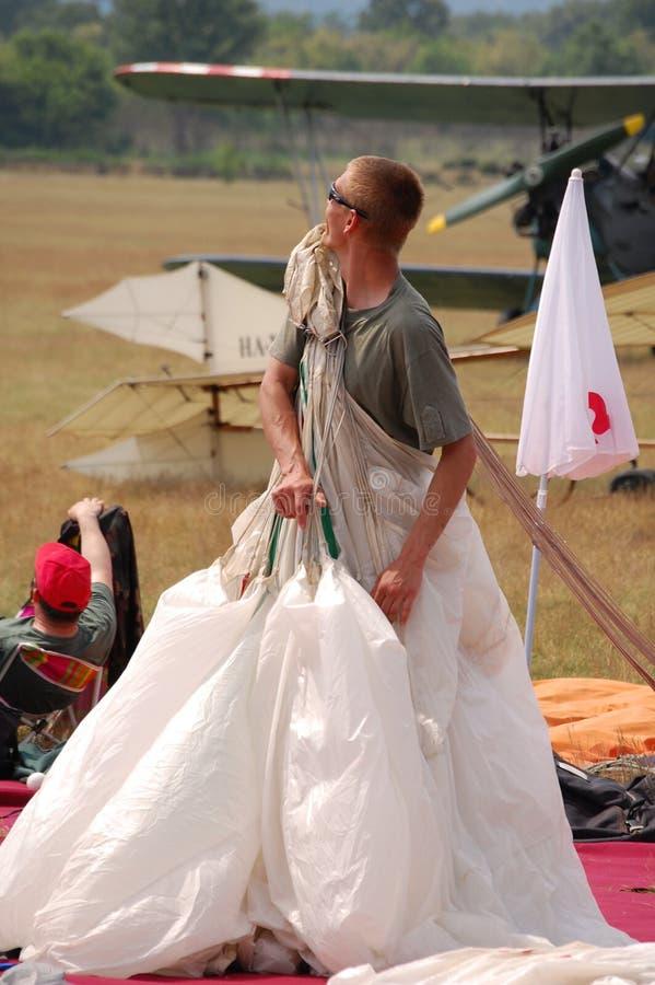 El paracaidista fotos de archivo