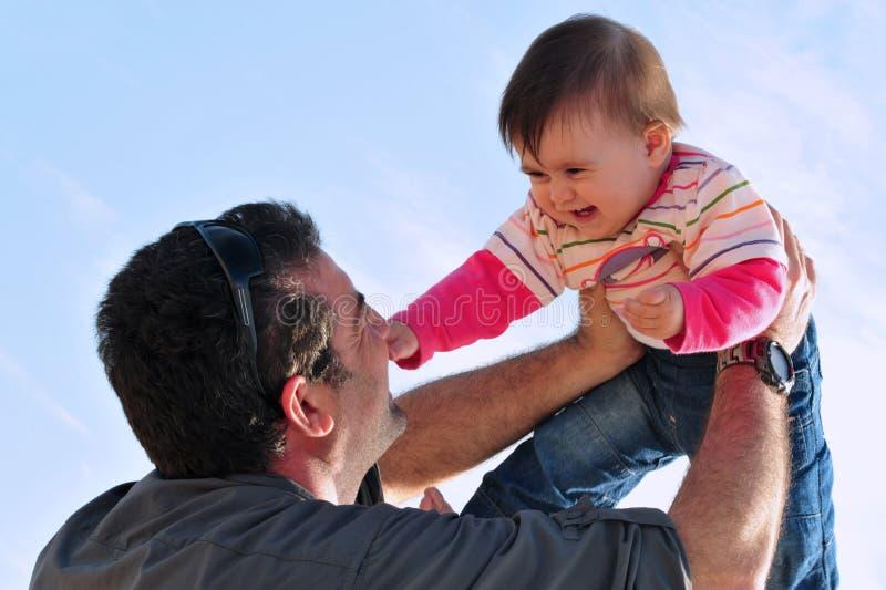 El Parenting Del Padre Y De La Hija Foto de archivo