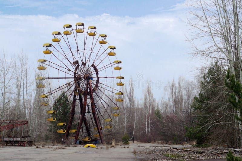 El parkin Pripyat, Chernóbil de los niños fotos de archivo