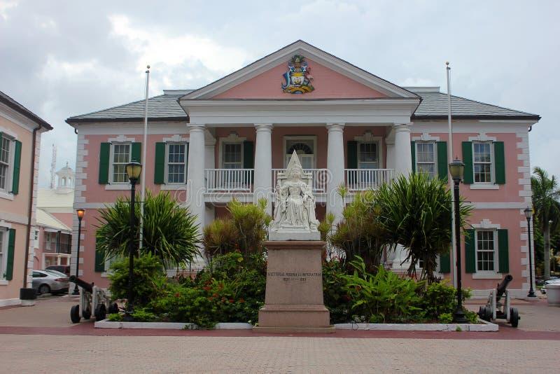 El parlamento ajusta en Nassau, Bahamas imagen de archivo libre de regalías