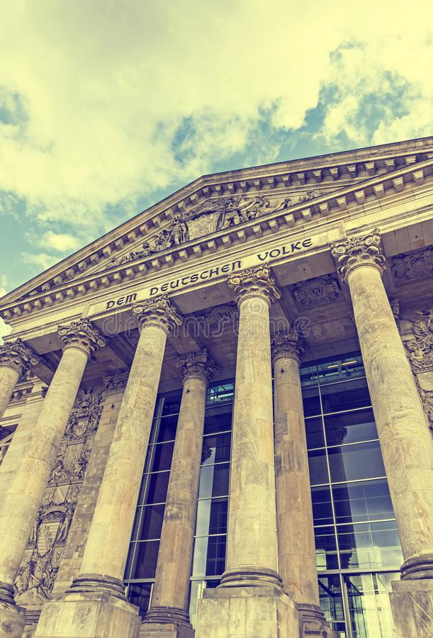 El parlamento alemán que construye Reichstag en Berlín, Alemania imágenes de archivo libres de regalías
