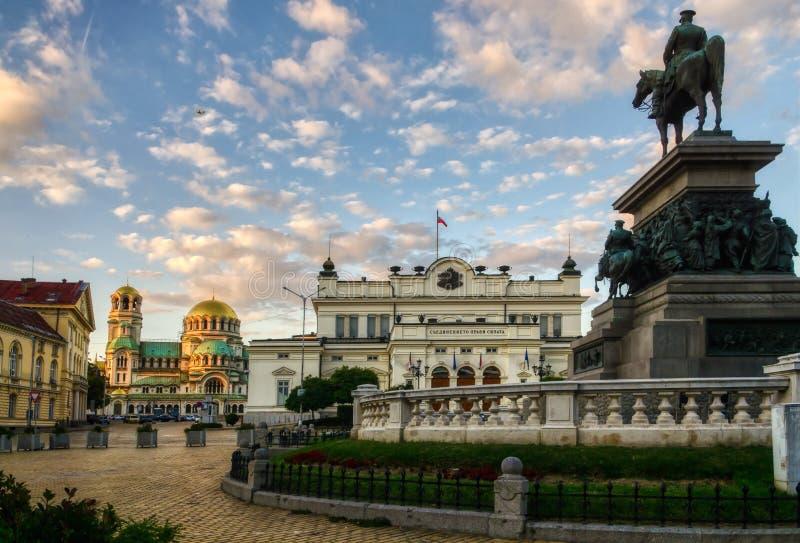 El parlamento búlgaro ajusta fotografía de archivo