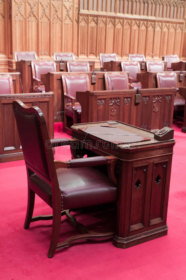El parlamento canadiense: el senado imagen de archivo