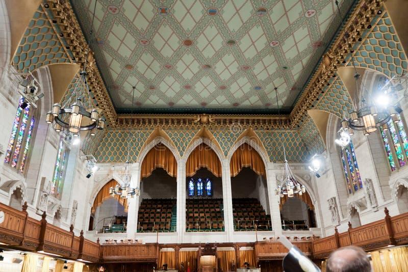 El parlamento canadiense: la Cámara de los Comunes imagenes de archivo