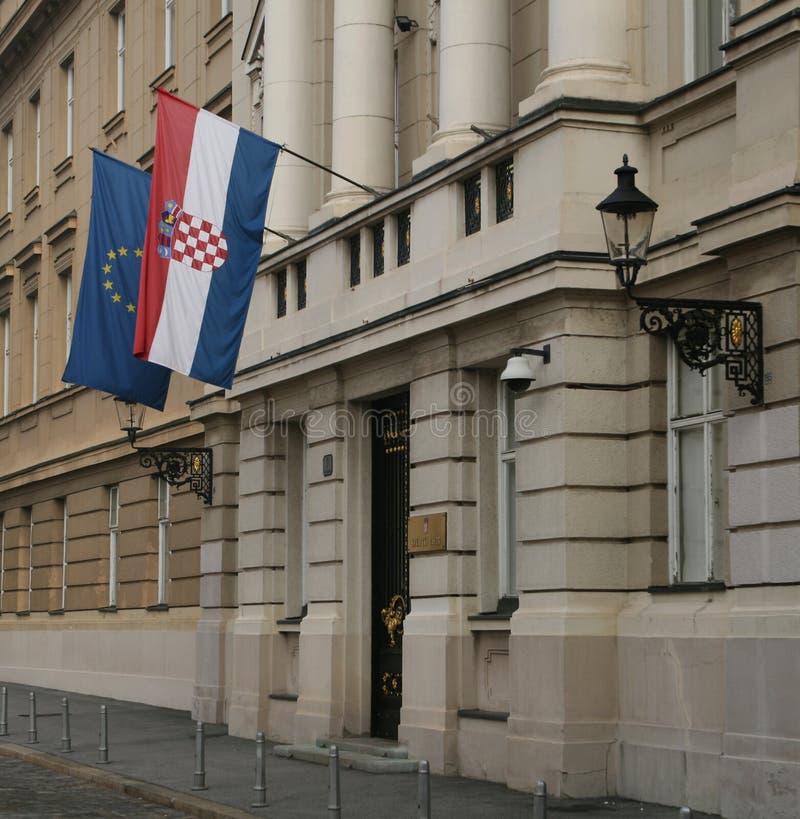 El parlamento croata/entrada imagen de archivo