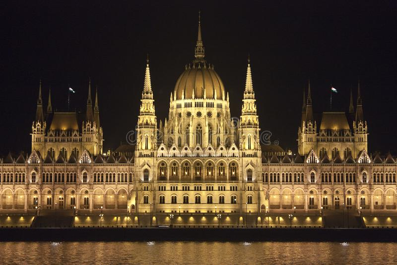 El parlamento de Budapest fotografía de archivo libre de regalías