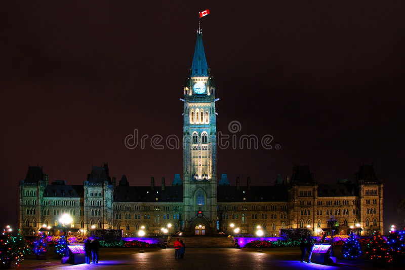 El parlamento de Canadá imagen de archivo libre de regalías