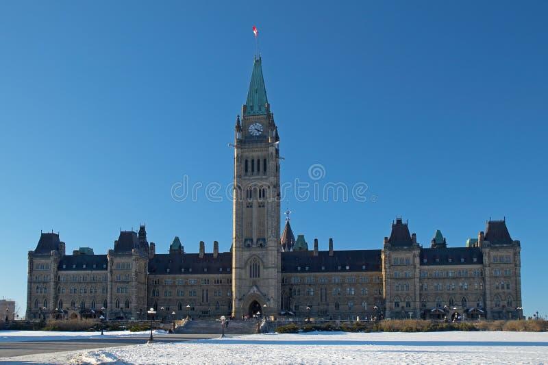 El parlamento de Canadá en Ottawa fotos de archivo libres de regalías