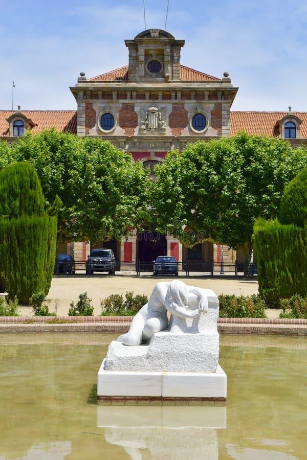 El parlamento de Cataluña, en Barcelona, España fotos de archivo libres de regalías