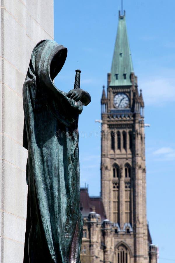 El parlamento de Ottawa imagenes de archivo