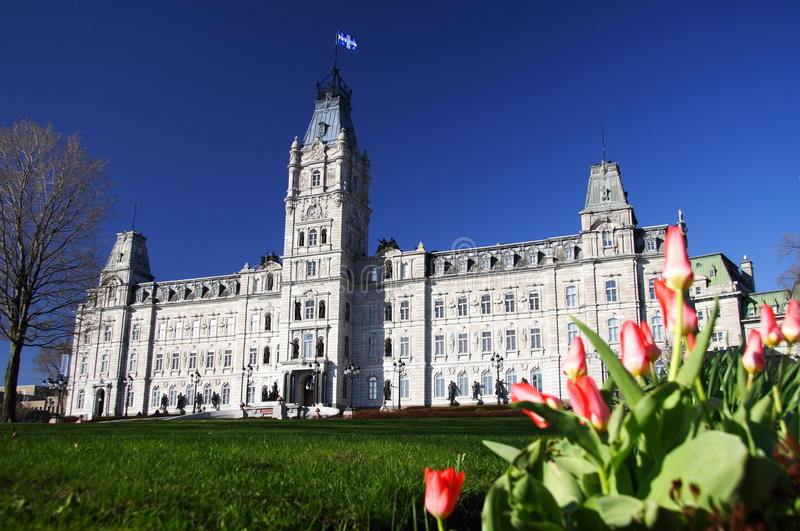El parlamento de Quebec City fotos de archivo