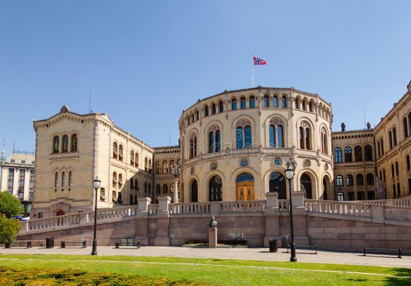 El parlamento de Storting de Noruega que construye Oslo central Noruega Scand imagen de archivo libre de regalías