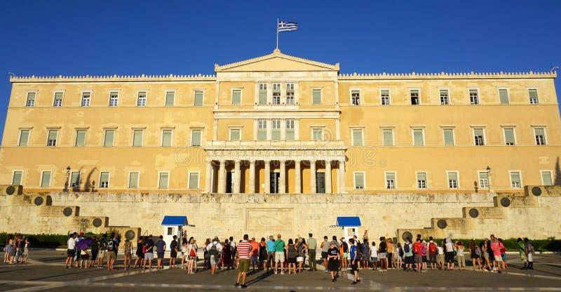 El parlamento en Atenas foto de archivo