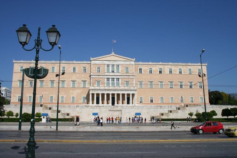 El parlamento griego, Atenas imágenes de archivo libres de regalías