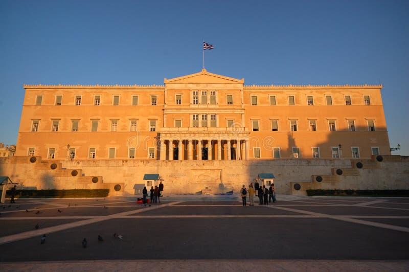 El parlamento griego en Atenas foto de archivo libre de regalías