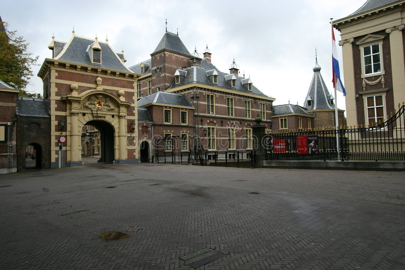 El parlamento holandés - Binnenhof foto de archivo