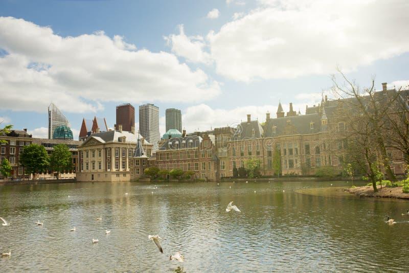 El parlamento holandés Binnenhof, La Haya foto de archivo
