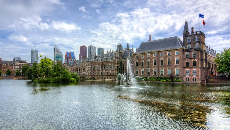 El parlamento holandés de Binnenhof, La Haya, Países Bajos fotografía de archivo libre de regalías