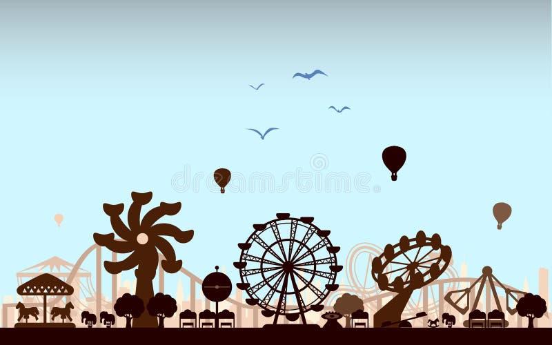 el parque de atracciones libre illustration
