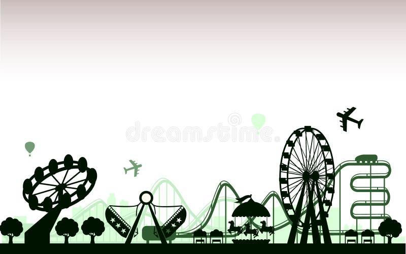 el parque de atracciones stock de ilustración