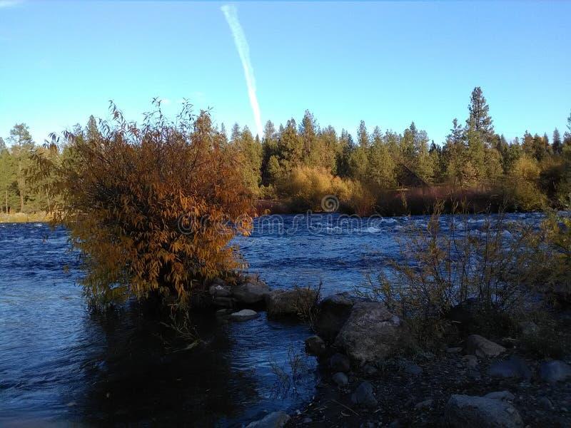 El parque de gente del río de Spokane foto de archivo