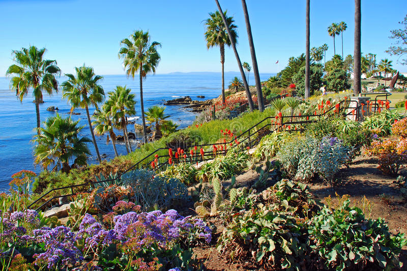 El parque de Heisler ajardinó los jardines, Laguna Beach, California. fotos de archivo libres de regalías