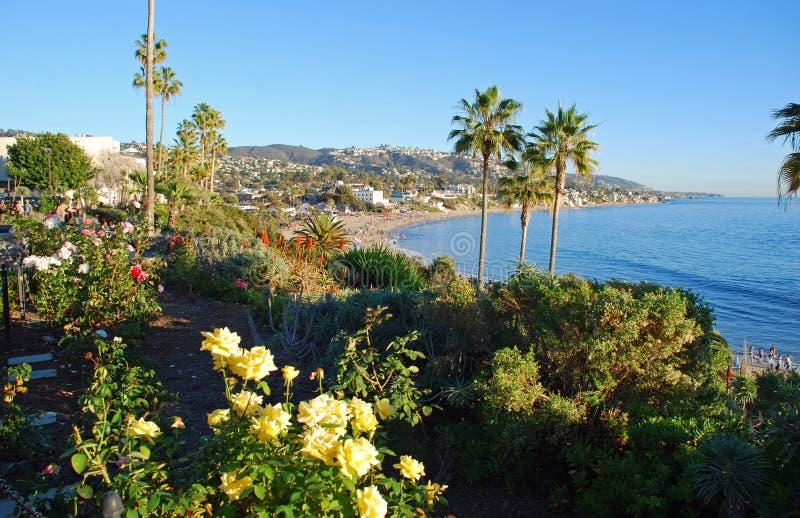 El parque de Heisler ajardinó los jardines, Laguna Beach, California imagen de archivo libre de regalías