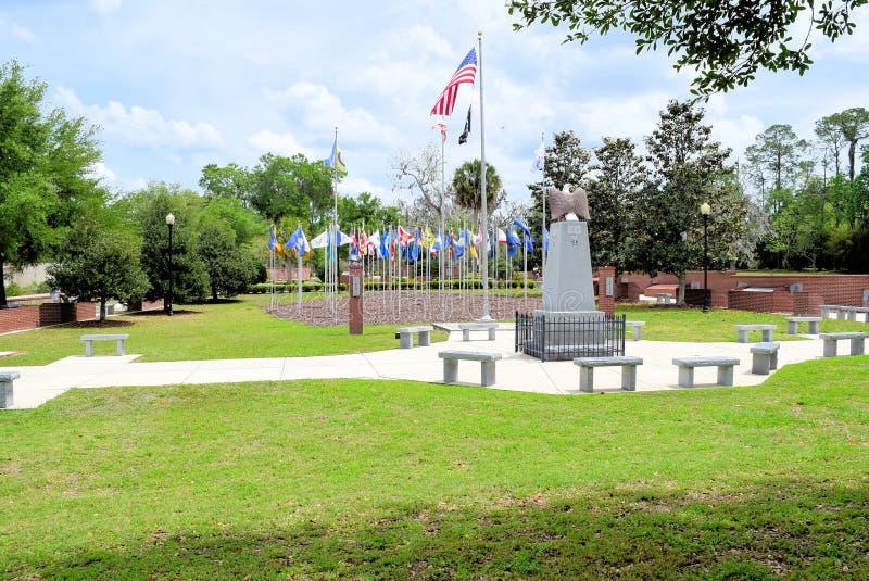 El parque de Vererans en Ocala, la Florida foto de archivo libre de regalías