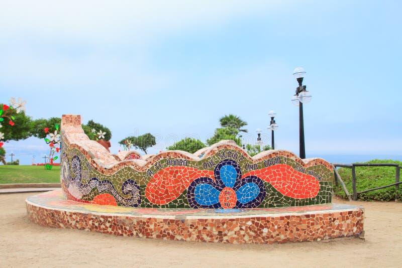 EL Parque del Amor, em Miraflores, Lima, Peru fotografia de stock royalty free