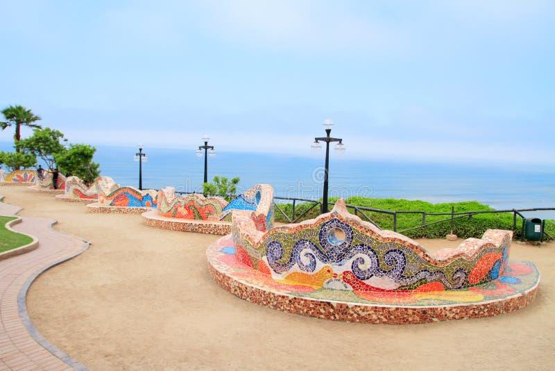 El Parque del Amor, in Miraflores, Lima, Peru. El Parque del Amor, love park in Miraflores, Lima, Peru royalty free stock photo