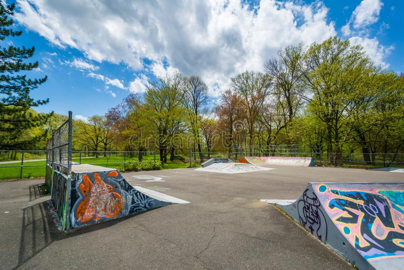 El parque del pat?n de Edgewood, en New Haven, Connecticut foto de archivo