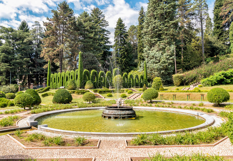 El parque en el chalet Toeplitz en Varese, Italia imágenes de archivo libres de regalías
