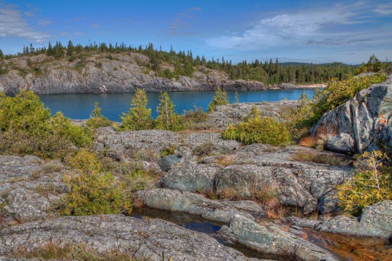 El parque nacional de Pukaskwa está en las orillas del lago Superior en Ontario septentrional, Canadá fotografía de archivo libre de regalías
