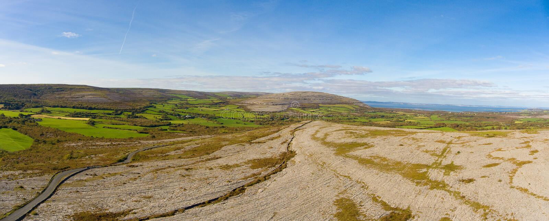 El parque nacional del burren en el condado Clare, Irlanda sce hermoso imágenes de archivo libres de regalías