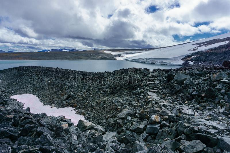 El parque nacional en Noruega llamó jotunheimen imagen de archivo