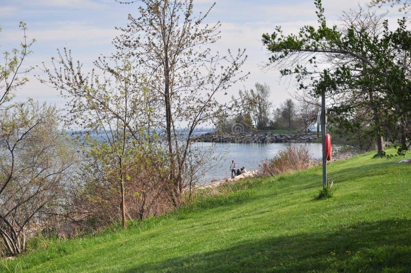 El parque Toronto del farolero ENCENDIDO fotografía de archivo