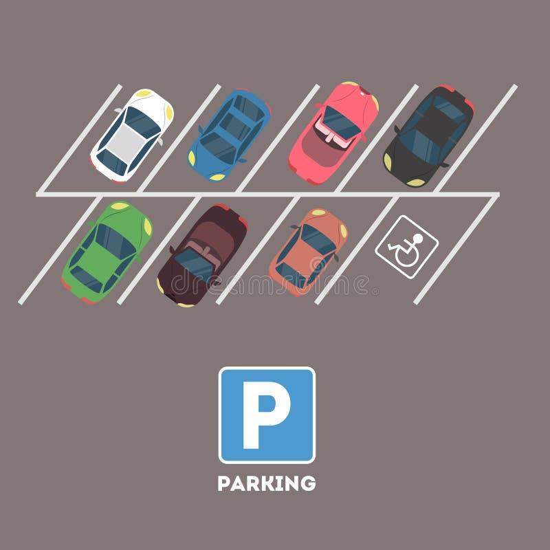 El parquear en ciudad ilustración del vector