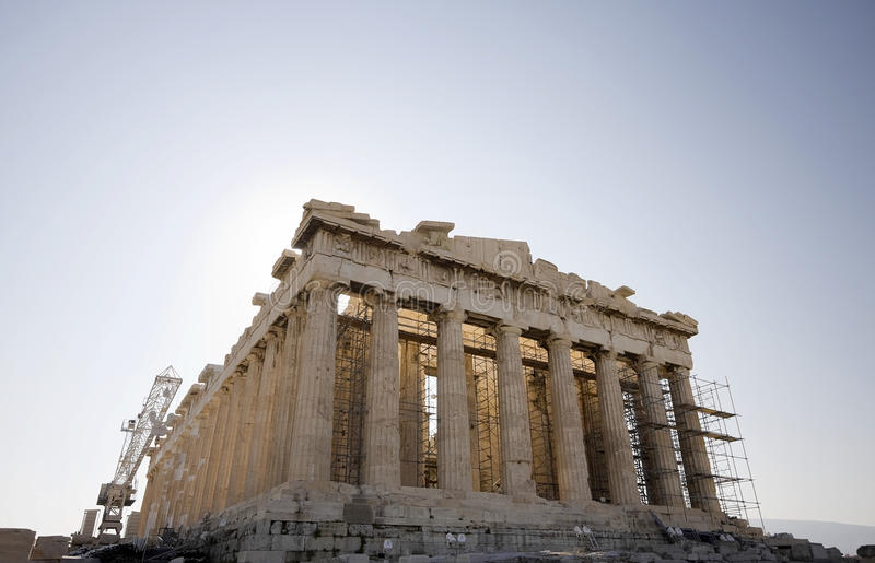 El Parthenon imágenes de archivo libres de regalías